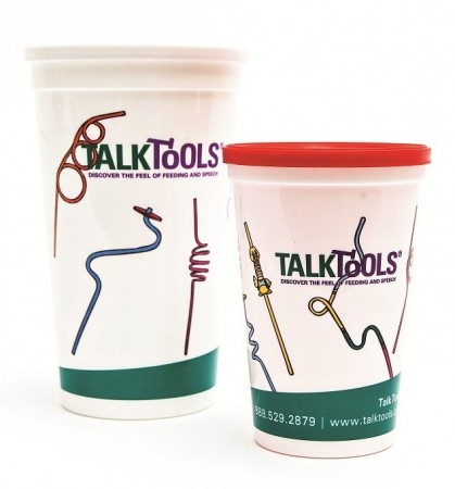 Talk Tools Straw Cups (1 Big, 1 Small)